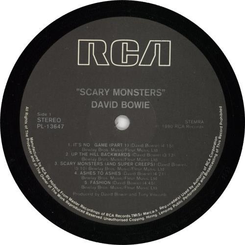 David Bowie Scary Monsters vinyl LP album (LP record) Dutch BOWLPSC724537