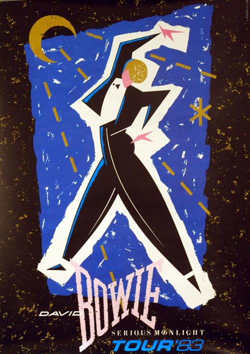 David Bowie Serious Moonlight Tour '83 poster UK BOWPOSE631605