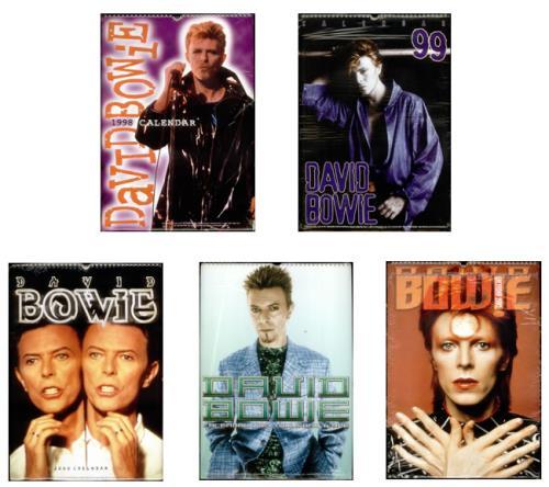 David Bowie Set Of Five Calendars 1998 2002 Calendar UK BOWCASE542293