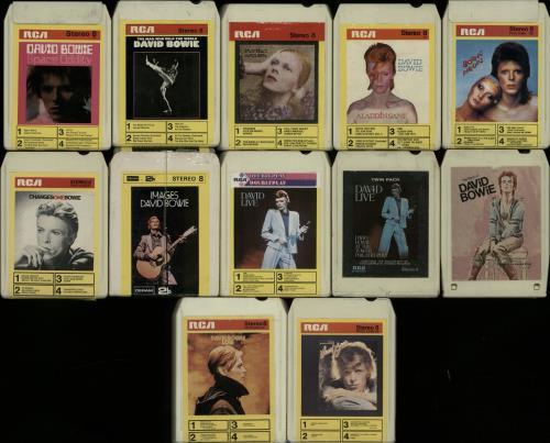 David Bowie Set Of Twelve 8-Track Cartridges 8-track cassette UK BOW8TSE650691