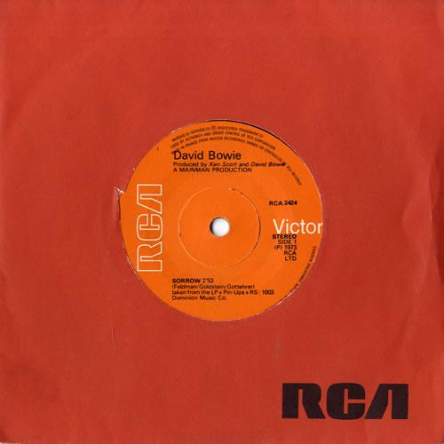 "David Bowie Sorrow 7"" vinyl single (7 inch record) French BOW07SO559059"