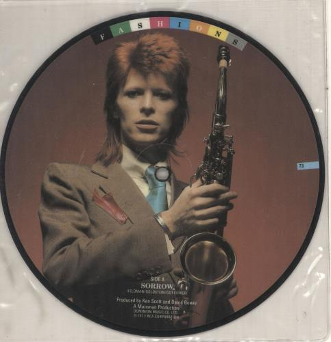 """David Bowie Sorrow 7"""" vinyl picture disc 7 inch picture disc single UK BOW7PSO745133"""