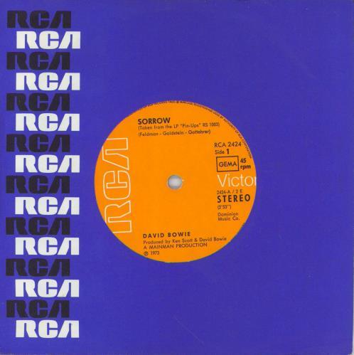 "David Bowie Sorrow 7"" vinyl single (7 inch record) German BOW07SO768902"