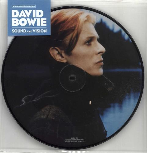 """David Bowie Sound And Vision - 40th Anniversary - Sealed 7"""" vinyl picture disc 7 inch picture disc single UK BOW7PSO666049"""