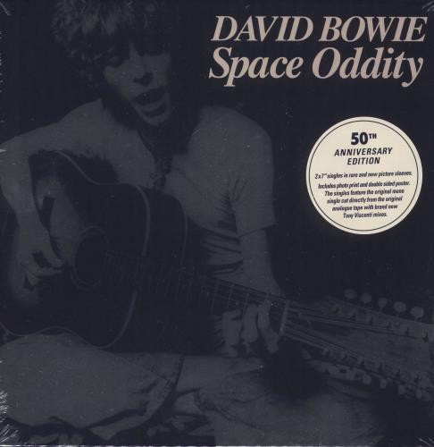 "David Bowie Space Oddity (50th Anniversary Edition) - Sealed Box 7"" box set UK BOW7XSP725449"