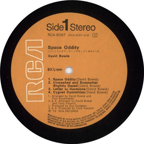 David Bowie Space Oddity + Poster + Obi vinyl LP album (LP record) Japanese BOWLPSP557984