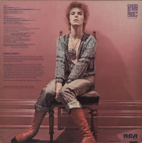 David Bowie Space Oddity + Poster - VG vinyl LP album (LP record) US BOWLPSP718478
