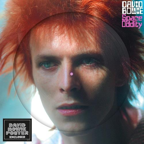 David Bowie Space Oddity + Poster picture disc LP (vinyl picture disc album) UK BOWPDSP747031