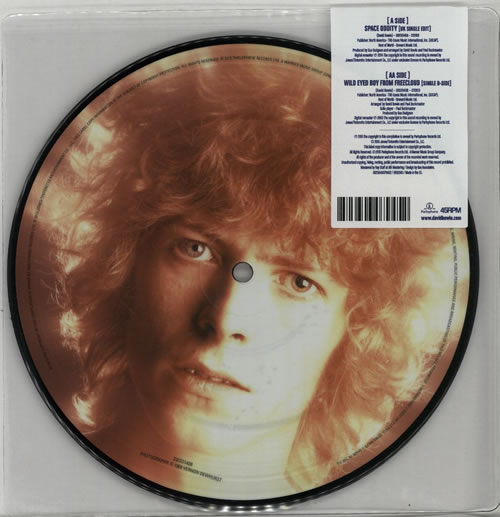 """David Bowie Space Oddity 7"""" vinyl picture disc 7 inch picture disc single UK BOW7PSP641467"""