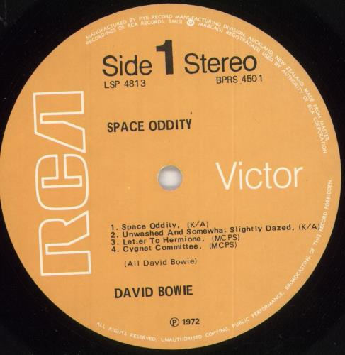 David Bowie Space Oddity vinyl LP album (LP record) New Zealand BOWLPSP727584