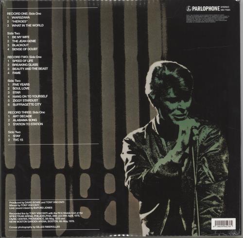 David Bowie Stage - 180gram Vinyl + Sealed 3-LP vinyl record set (Triple Album) UK BOW3LST691828