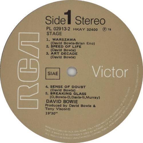 David Bowie Stage 2-LP vinyl record set (Double Album) UK BOW2LST275612