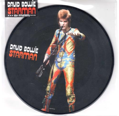 "David Bowie Starman - Sealed 7"" vinyl picture disc 7 inch picture disc single UK BOW7PST567841"