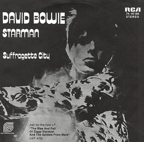 "David Bowie Starman 7"" vinyl single (7 inch record) German BOW07ST228987"