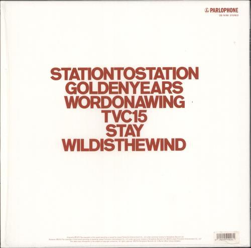 David Bowie Station To Station - 180gm vinyl LP album (LP record) UK BOWLPST735825