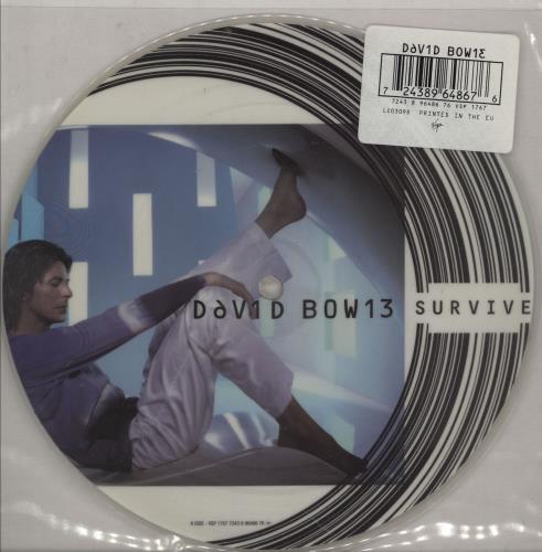 "David Bowie Survive 7"" vinyl picture disc 7 inch picture disc single UK BOW7PSU151016"