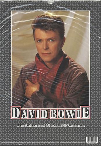 David Bowie The Authorised Official 1987 Calendar calendar UK BOWCATH387250