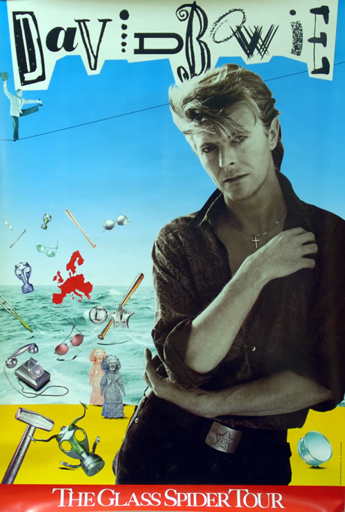 David Bowie The Glass Spider Tour poster UK BOWPOTH631622