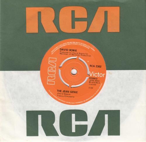 "David Bowie The Jean Genie - 4pr 7"" vinyl single (7 inch record) UK BOW07TH555006"