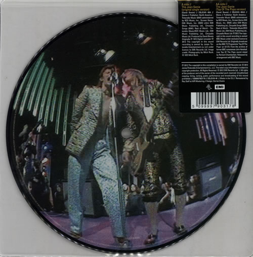 """David Bowie The Jean Genie - Sealed 7"""" vinyl picture disc 7 inch picture disc single UK BOW7PTH575673"""