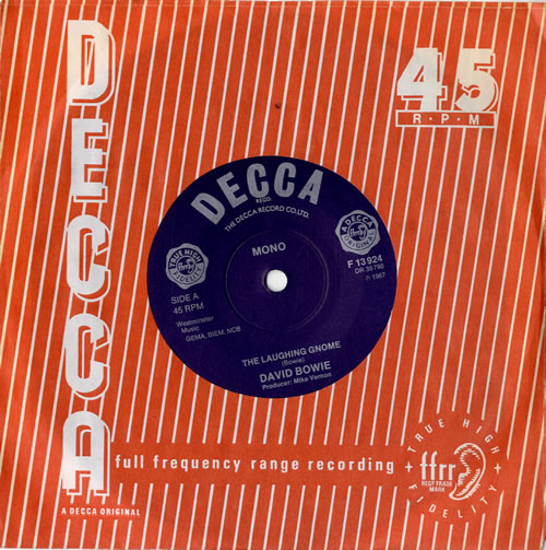 """David Bowie The Laughing Gnome - Decca Reissue 7"""" vinyl single (7 inch record) UK BOW07TH60812"""
