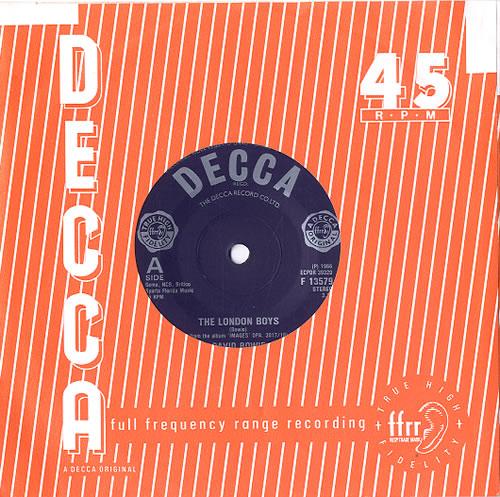 "David Bowie The London Boys - 1982 7"" vinyl single (7 inch record) UK BOW07TH623272"