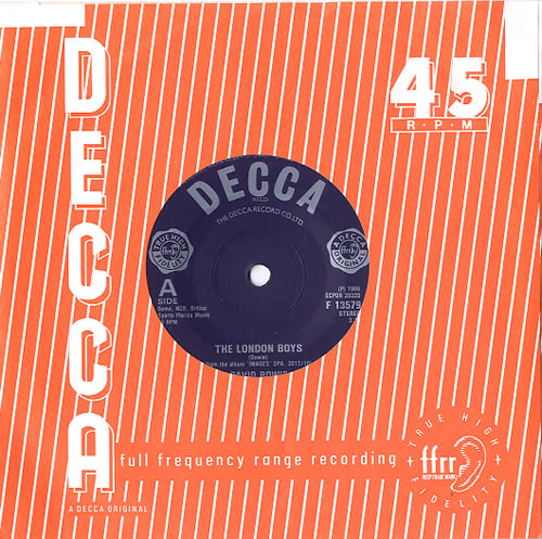 "David Bowie The London Boys 7"" vinyl single (7 inch record) UK BOW07TH623272"