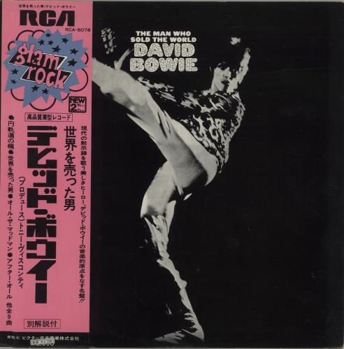 David Bowie The Man Who Sold The World + Obi & Poster vinyl LP album (LP record) Japanese BOWLPTH299890