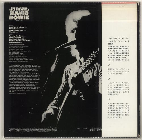 David Bowie The Man Who Sold The World + Obi vinyl LP album (LP record) Japanese BOWLPTH726091