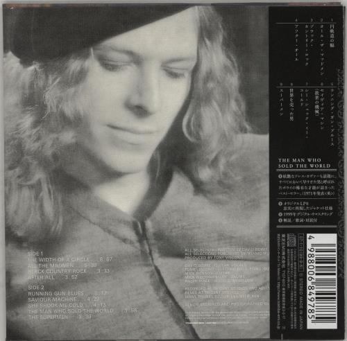 David Bowie The Man Who Sold The World CD album (CDLP) Japanese BOWCDTH754007