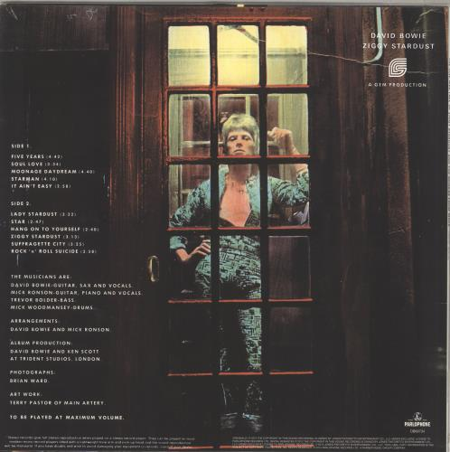 David Bowie The Rise And Fall of Ziggy Stardust - 180gm vinyl LP album (LP record) UK BOWLPTH709039