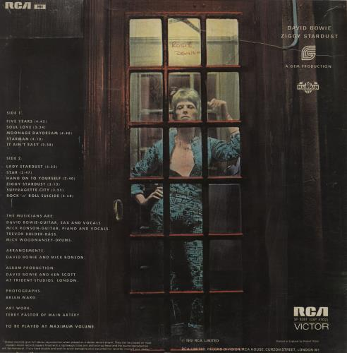 David Bowie The Rise And Fall Of Ziggy Stardust - 1st - VG vinyl LP album (LP record) UK BOWLPTH754519