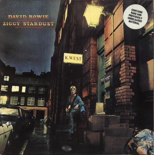 David Bowie The Rise And Fall Of Ziggy Stardust - Stickered vinyl LP album (LP record) UK BOWLPTH727105