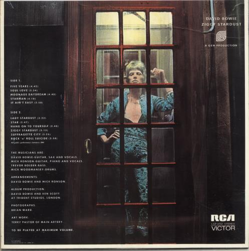 David Bowie The Rise And Fall Of Ziggy Stardust And The Spiders From Mar vinyl LP album (LP record) Canadian BOWLPTH694259