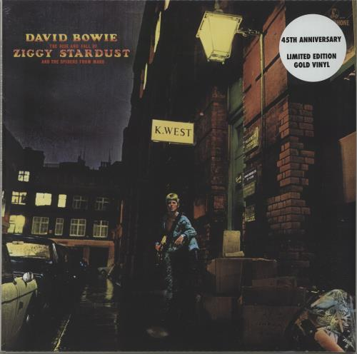 David Bowie The Rise And Fall Of Ziggy Stardust... - Gold Vinyl - Sealed vinyl LP album (LP record) UK BOWLPTH674881