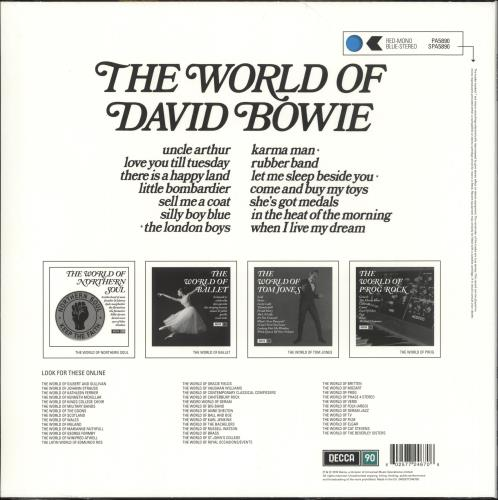 David Bowie The World Of David Bowie - RSD19 - 180gm Blue Vinyl - Sealed vinyl LP album (LP record) UK BOWLPTH718464