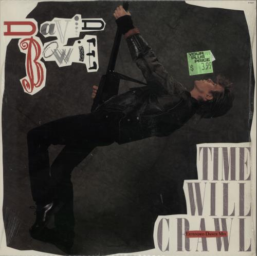 "David Bowie Time Will Crawl 12"" vinyl single (12 inch record / Maxi-single) US BOW12TI26424"