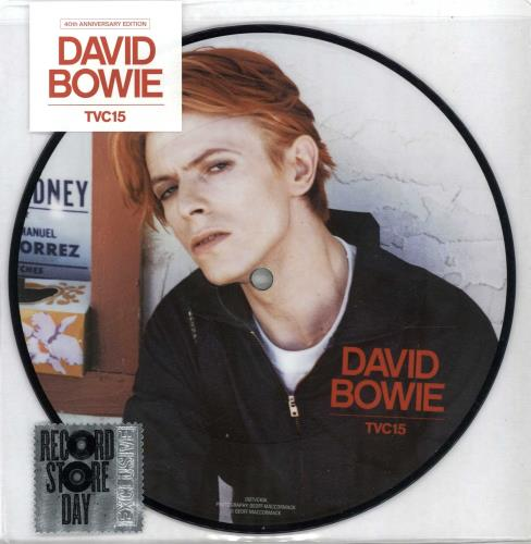 "David Bowie TVC15 - RSD 16 - Sealed 7"" vinyl picture disc 7 inch picture disc single UK BOW7PTV651076"