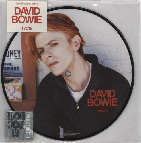 """David Bowie TVC15 - RSD 16 7"""" vinyl picture disc 7 inch picture disc single UK BOW7PTV766182"""