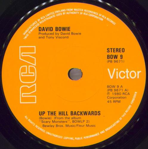 """David Bowie Up The Hill Backwards - Soild + P/S 7"""" vinyl single (7 inch record) UK BOW07UP775129"""