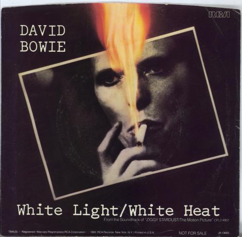 "David Bowie White Light/White Heat - VG+ 7"" vinyl single (7 inch record) US BOW07WH767227"