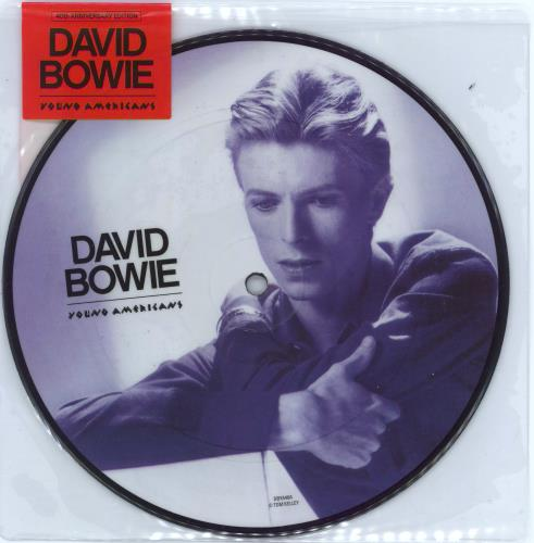 "David Bowie Young Americans - 40th Anniversary 7"" vinyl picture disc 7 inch picture disc single UK BOW7PYO622836"