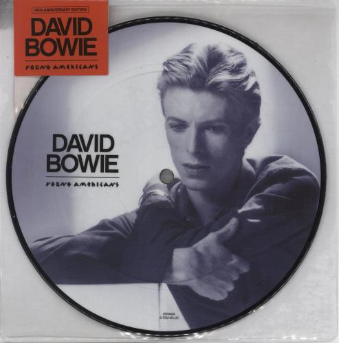 """David Bowie Young Americans - 40th Anniversary 7"""" vinyl picture disc 7 inch picture disc single UK BOW7PYO766980"""