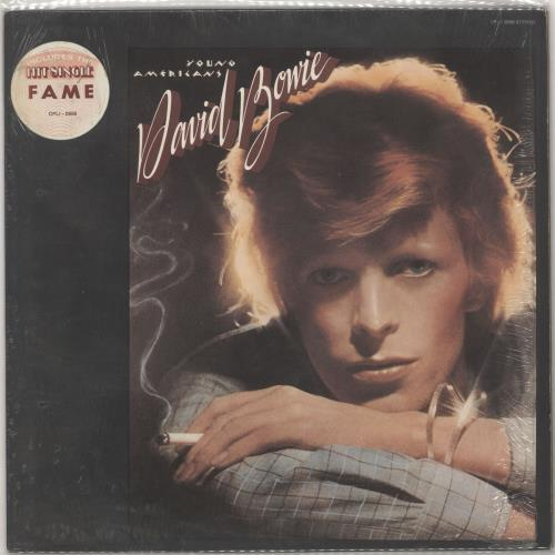 David Bowie Young Americans - stickered shrink vinyl LP album (LP record) Canadian BOWLPYO727947
