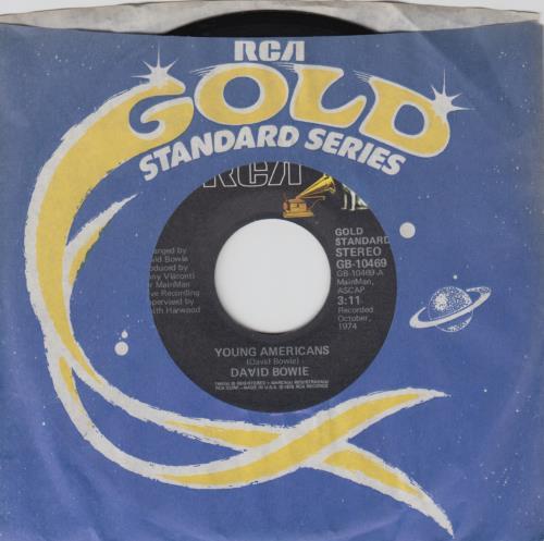 "David Bowie Young Americans 7"" vinyl single (7 inch record) US BOW07YO170504"