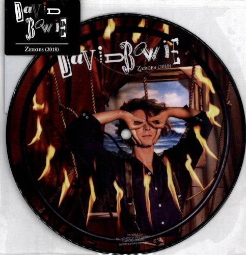 """David Bowie Zeroes / Beat Of Your Drum (2018) 7"""" vinyl picture disc 7 inch picture disc single UK BOW7PZE703033"""