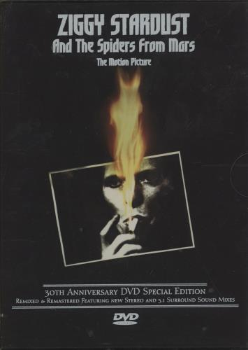 David Bowie Ziggy Stardust: The Motion Picture + Slipcase DVD UK BOWDDZI236572