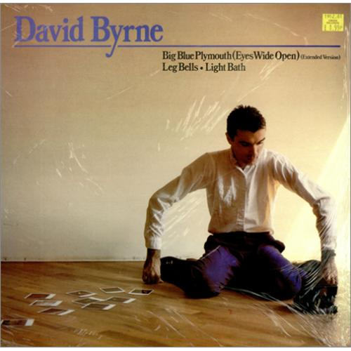 "David Byrne Big Blue Plymouth 12"" vinyl single (12 inch record / Maxi-single) UK BYN12BI128999"