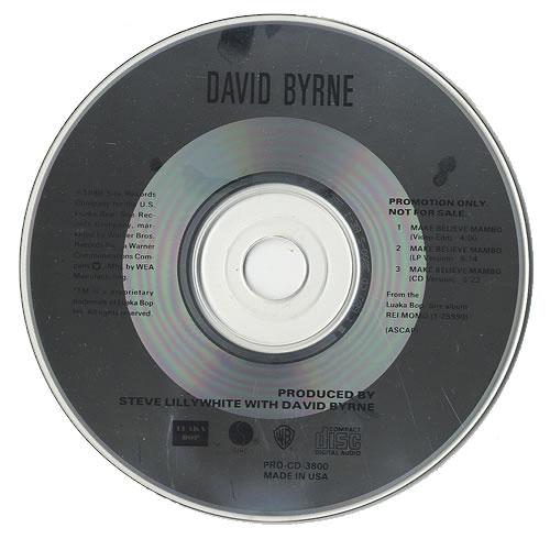 "David Byrne Make Believe Mambo CD single (CD5 / 5"") US BYNC5MA493775"
