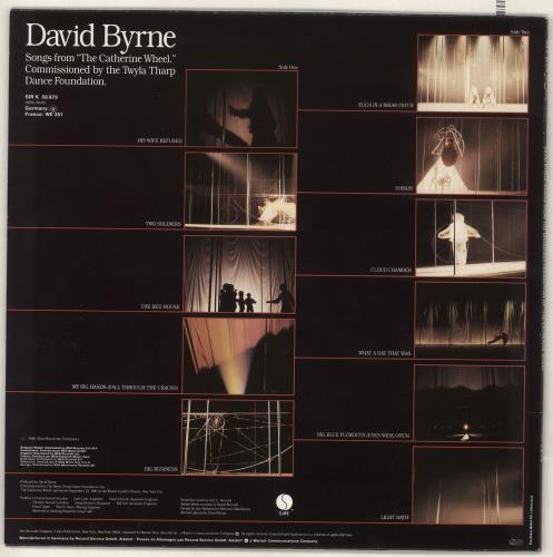 David Byrne Sounds From 'The Catherine Wheel' vinyl LP album (LP record) German BYNLPSO736909